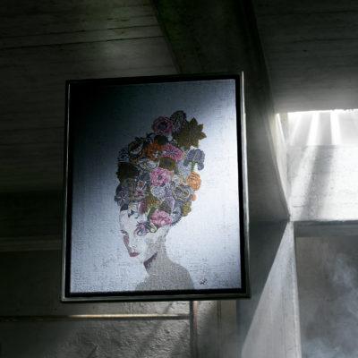 Exklusive Textilbilder in hochwertiger Rahmung aus der Manufaktur F. G. Conzen.